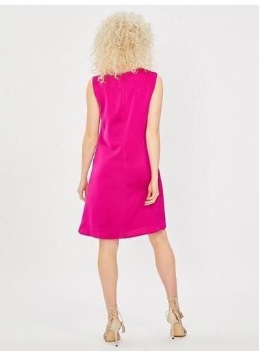 Vekem-Limited Edition Elbise Fuşya